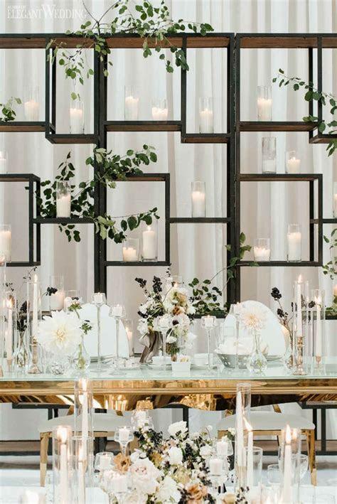 Modern Black and White Wedding   Dinner parties   Modern