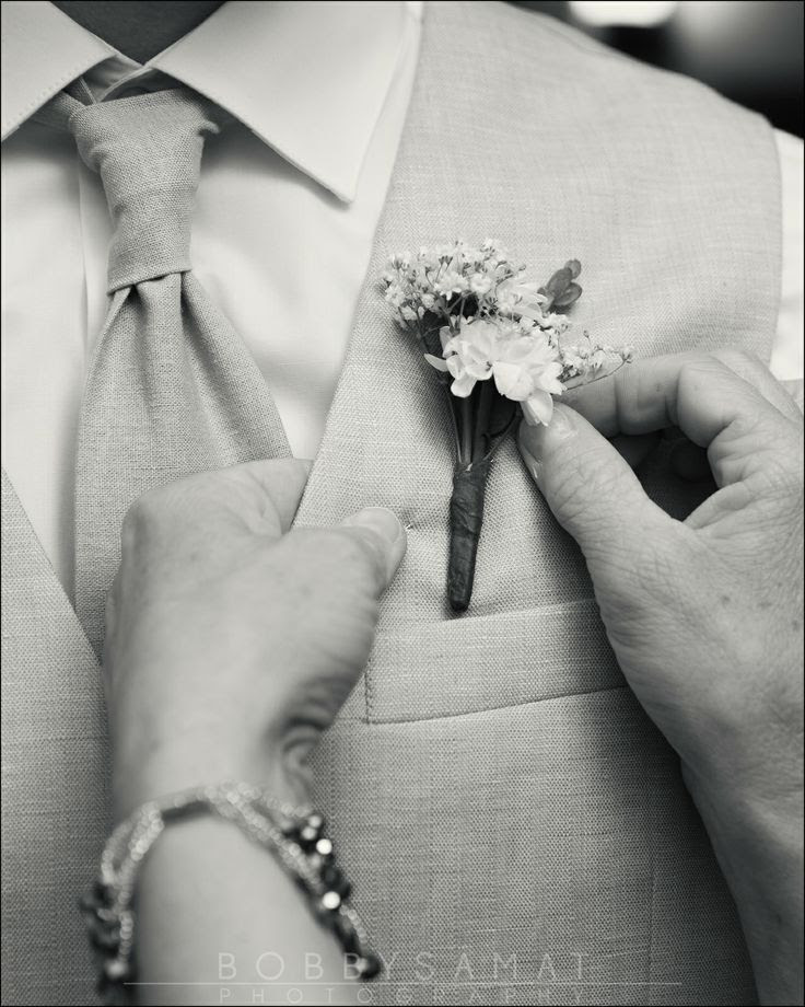 Beautiful Wedding Photography #boutonniere #wedding #groom