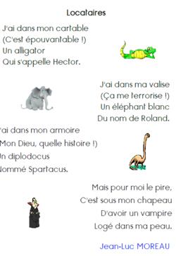 Ecrire un poème à la manière de ..... Locataires de JL Moreau