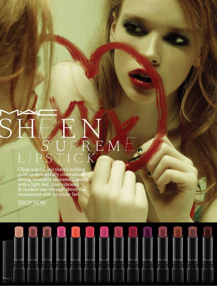 MAC Cosmetics new sheen supreme lipstick 2011