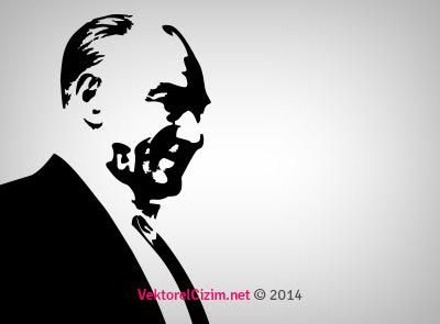 Vektörel çizim Vektörel Mustafa Kemal Atatürk Görselleri