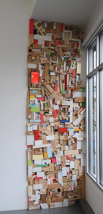 julianminima:  Cordy Ryman Scrap Wall 2 2010, mixed media studio scraps and Velcro dimensions variable
