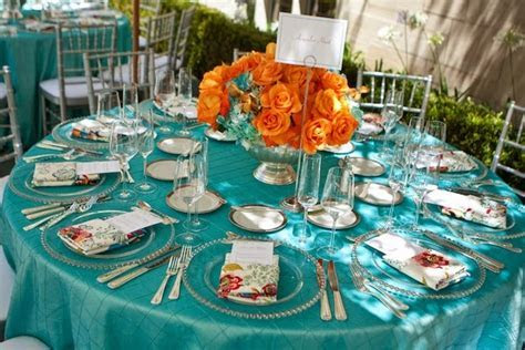 Wedding Color Inspiration: Turquoise and Orange   Lots of