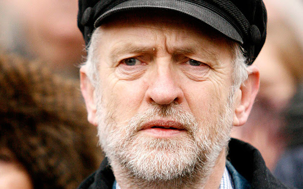 Jeremy Corbyn wears hat
