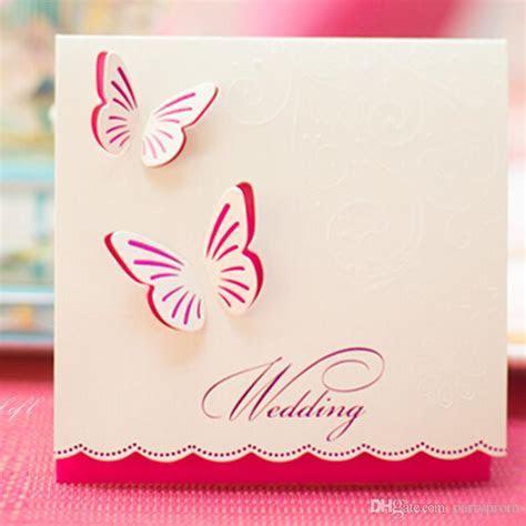 Wedding Invitations Butterfly Style Fancy Design