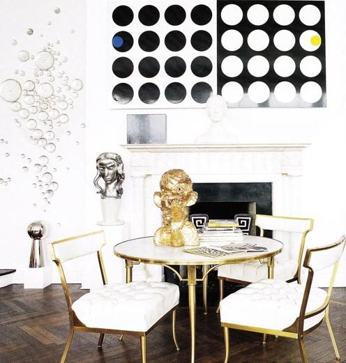 Gold Dining Room Chairs