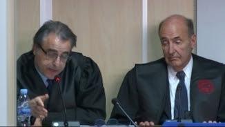 Pau Molins i Miquel Roca, advocats de la infanta, durant el judici a Palma