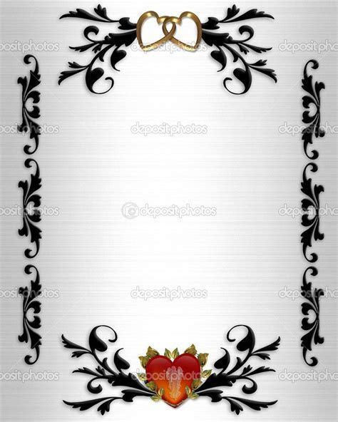 wedding clip art borders   Wedding invitation, Valentines