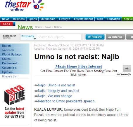 Umno is not racist Najib - Nation The Star Online 2013-05-02 17-23-57