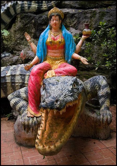 Lakshmi on a Crocodile