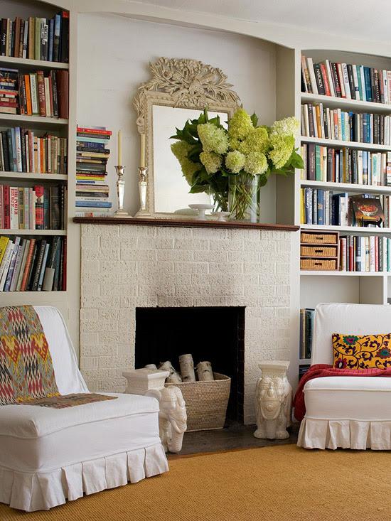 Fireplace Built Ins - Cottage - living room - BHG