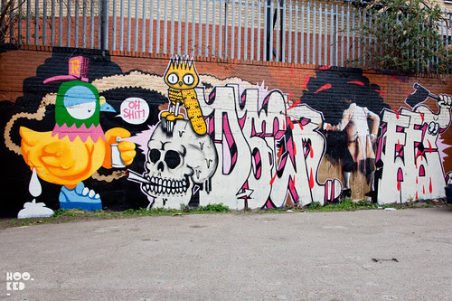 Conor Harrington, Dscreet & Ronzo — New Mural in Dalston