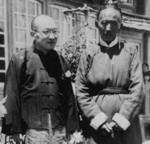 沈博士与西藏外交局大臣索康扎萨。
