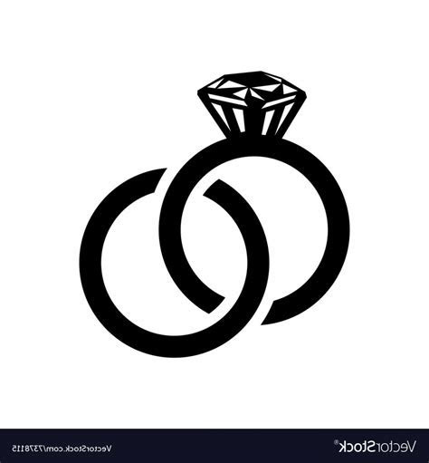 Wedding Rings Simple Icon Vector   SOIDERGI