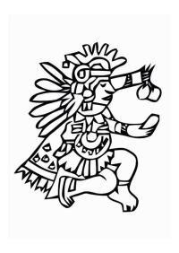 Dioses Mayas Para Colorear Dioses Mayas Imagenes