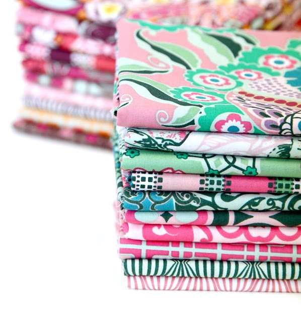 Hypereal Garden Fabric Stack for Friday's Fabric Giveaway!