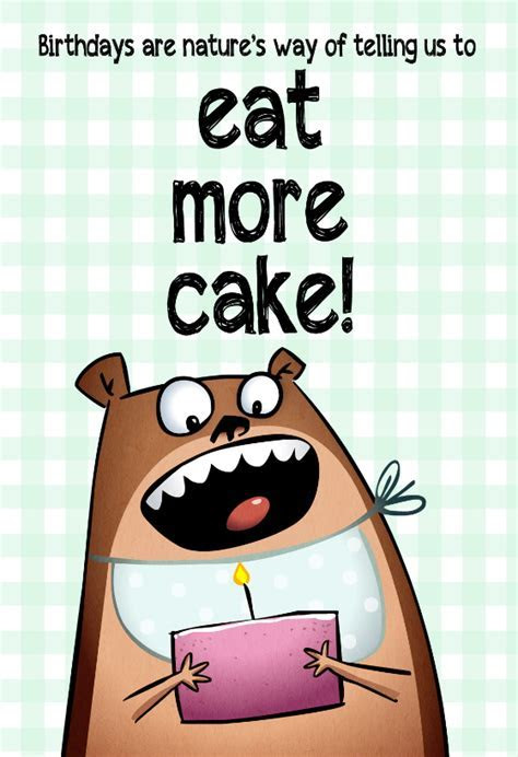 Eat More Cake   Free Birthday Card   Greetings Island