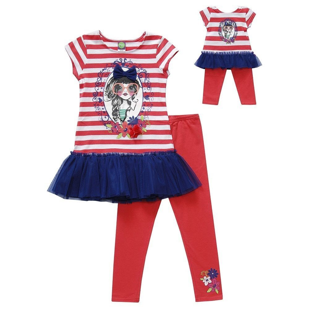 new dollie me girl outfit dress leggins set 7 8 10 fits