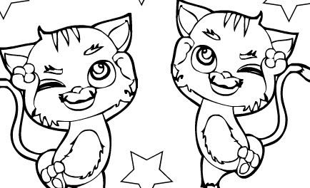 Boyama Resmi Kediler Bedava Boyama Resmi Kediler Oyunları Burada