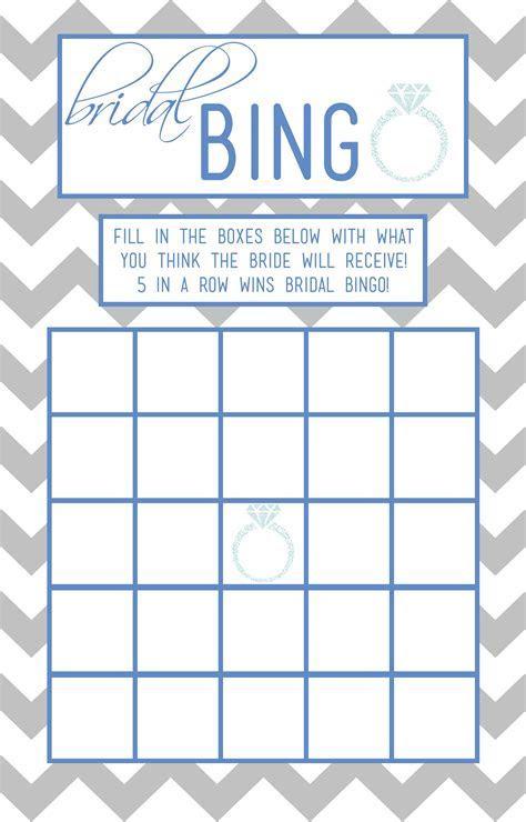 Bridal Bingo!   A Dash Of Chaos