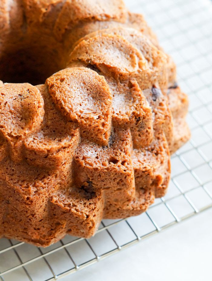 easy chocolate chip bundt cake ... with a pourable chocolate glaze, sprinkles optional