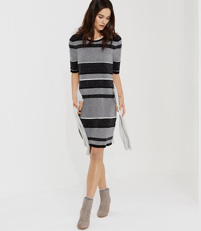 Primary Image of Lou & Grey Blockstripe Sweater Dress