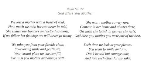 In Memory Of Mother Verses   memoriam memorial cards