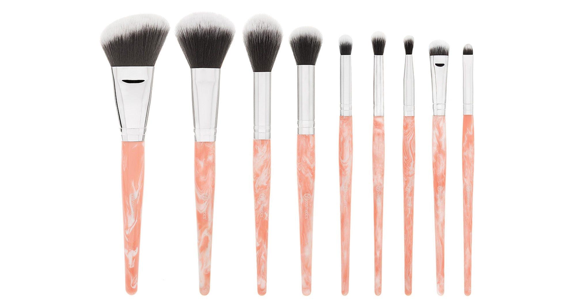 BH Cosmetics Pink Marble Set - Rose Quartz Brushes