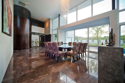 modern house  house in el uro ,living room interior design