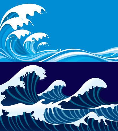 高波海のイラストaieps ベクタークラブイラストレーター素材が無料
