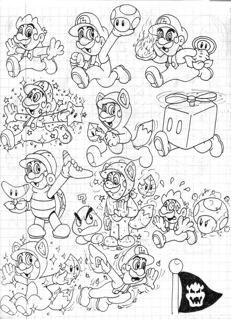 11 Pics Mario 3d Land Coloring Pages Super World