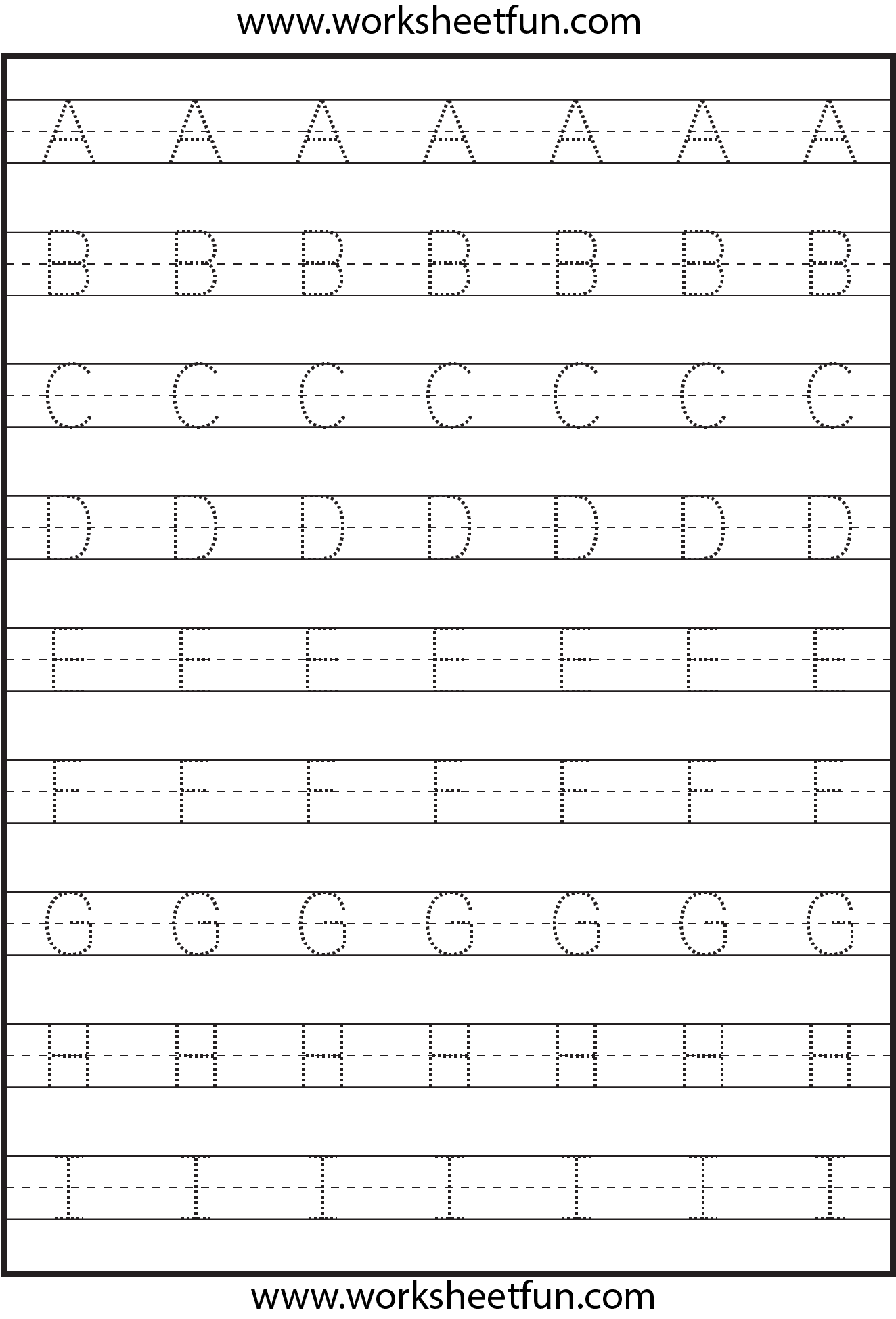 Tracing – Uppercase Letters – Capital Letters – 3 Worksheets ...
