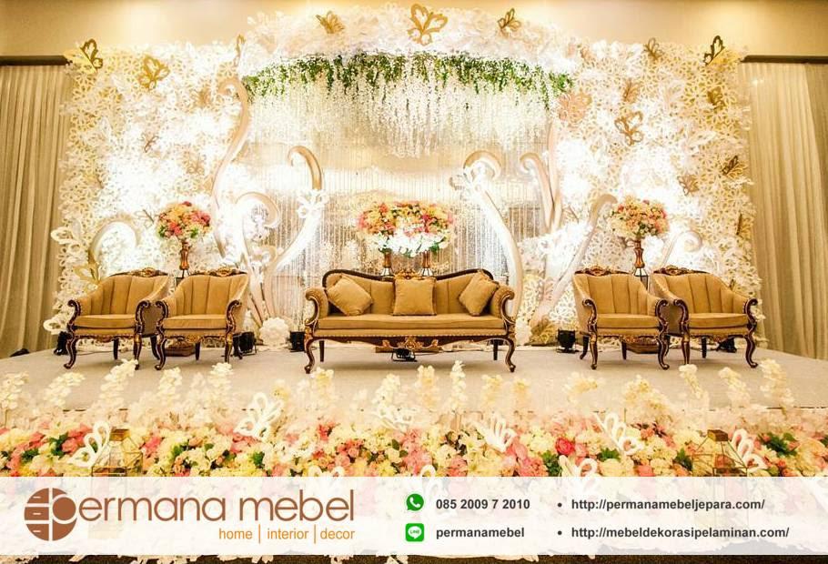 dekorasi wedding minimalis karet