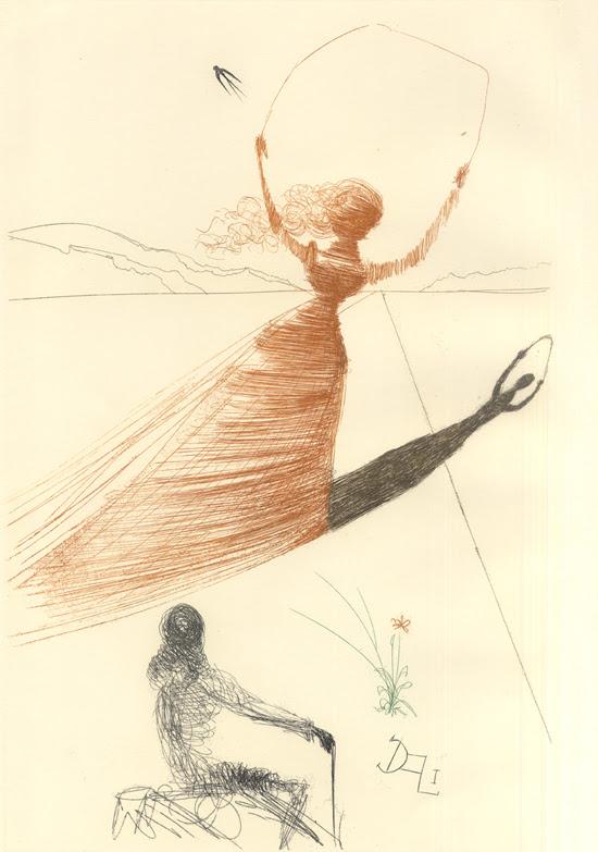 illustration alice pays merveilles dali 01 Salvador Dali illustre Alice au pays des merveilles