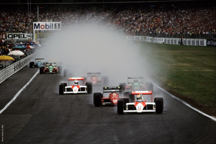 No Grande Prêmio da Alemanha, em 1988, Senna conquistou sua 11ª vitória da Fórmula 1 (Foto: Norio Koike)