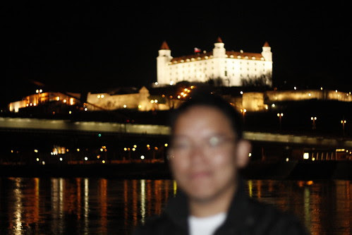 Bratislava Castle and I... I was out of focus