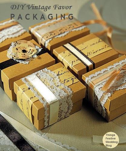 Vintage Wedding Ideas Diy: DIY Vintage Favor Packaging