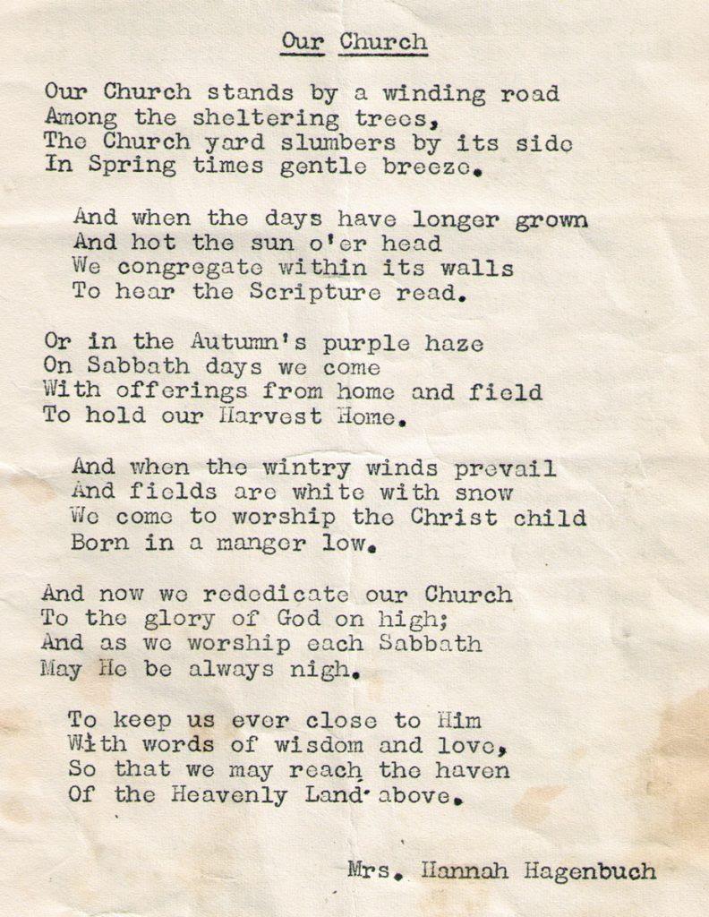 oak grove lutheran church rededication poem 1952 792x1024
