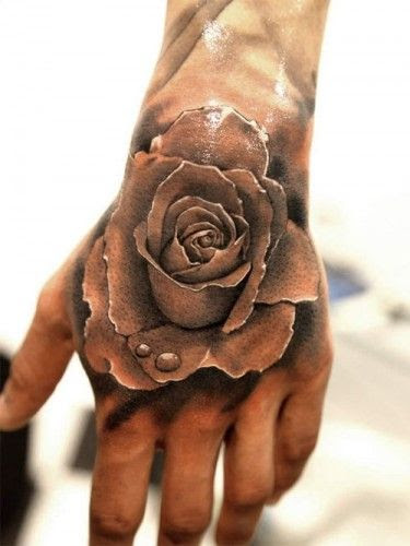 Water And Rose Realistic Tattoo Tattoomagz