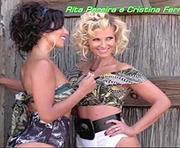 Rita Peerira e Cristina Ferreira sensuais em ensaio para a revista Cristina