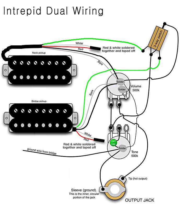 Active Pickup Guitar Wiring Diagram