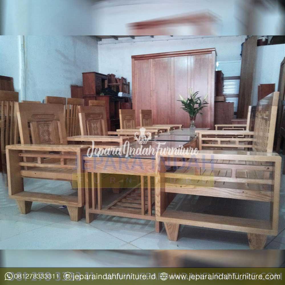 Kursi Tamu Jati Victorian Swan Set Sofa Tamu Untuk Rumah Mewah