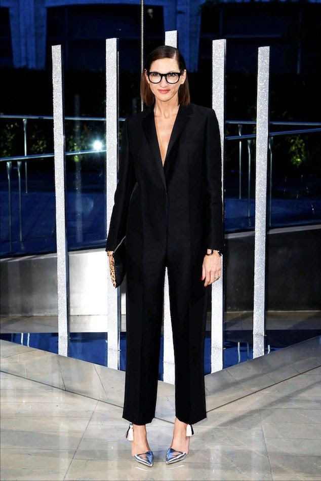 Le Fashion Blog Best Dress 2015 CFDA Awards Jenna Lyons JCrew Black Tux Jumpsuit Metallic Silver Pumps Via Style photo Le-Fashion-Blog-Best-Dress-2015-CFDA-Awards-Jenna-Lyons-JCrew-Black-Tux-Jumpsuit-Metallic-Silver-Pumps-Via-Style.jpg
