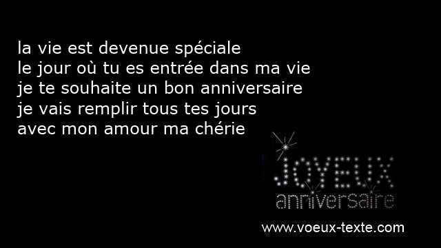 Texto Bonne Anniversaire Mon Amour