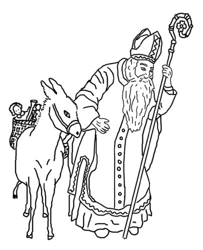 【Meilleure collection】 Coloriage De Saint Nicolas