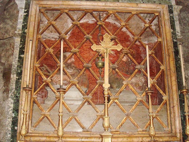File: Carcere Mamertino S.Pietro s.paolo Altare av Stefano Bolognini.JPG