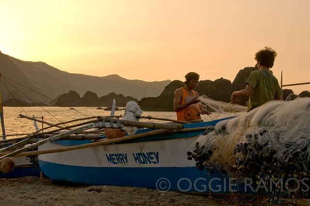 Claveria - Taggat Lagoon Preparing the Nets for Tomorrow