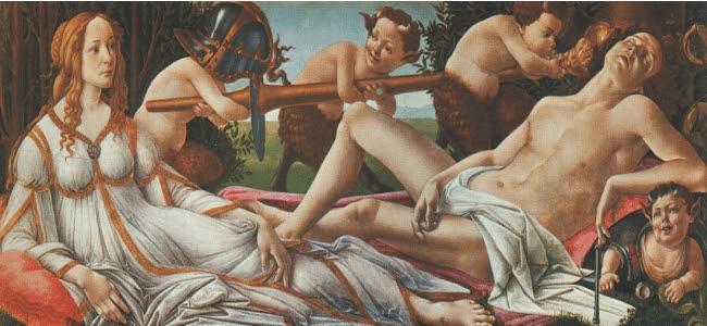 Resultado de imagen para botticelli venus y marte