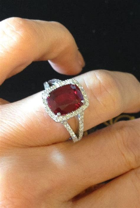The 25  best Ruby diamond rings ideas on Pinterest