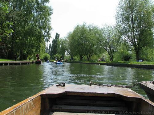 Punting in river Cam, Cambridge